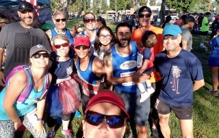 4th of July Run with older runner group