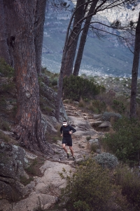 Running up steep hill