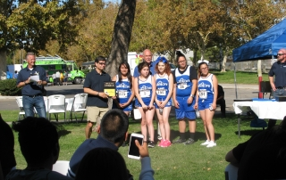 Girls XC Team & Coach Mike CIS Championship 2016